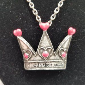 Disney Queen of Hearts Crown Necklace/Brooch